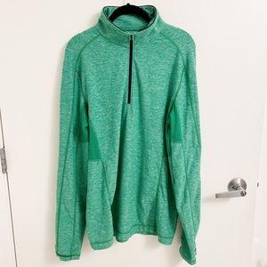 LULULEMON | Heathered Green Long Sleeve Half Zip L